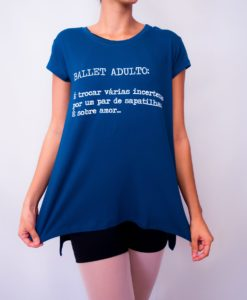 Blusa feminina Ballet adulto