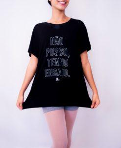 T-shirt gola V Não posso tenho ensaio