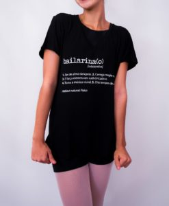 T-Shirt gola V bailarina(o)