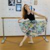 Saia ballet Julieta Tule estampado